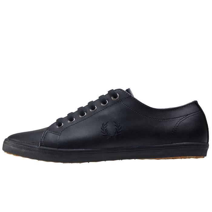 Fred Perry Kingston Mixte Baskets Noir - 5 UK
