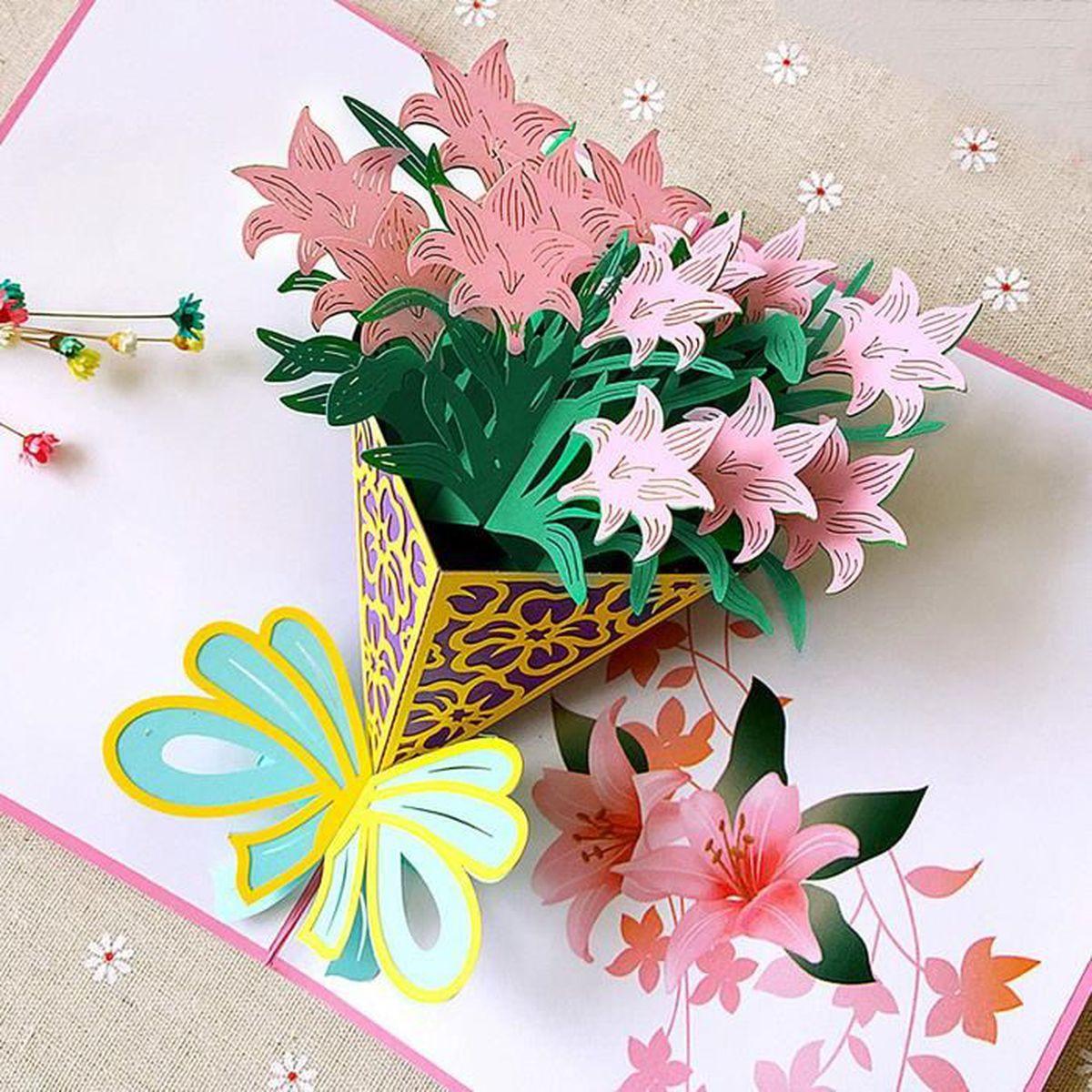 Carte Anniversaire Mariage Carte Pop Up 3d Forme D Fleur Pour Fete Des Meres Journee Des Enseignants Saint Valentin Achat Vente Bricolage Etabli Cdiscount