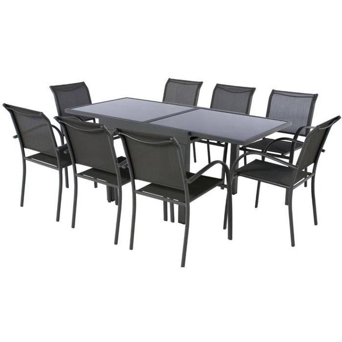 TABLE À MANGER SEULE Table rectangulaire extensible en Aluminium colori