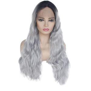 PERRUQUE - POSTICHE Perruque de cheveux synthétiques avant de lacet dé