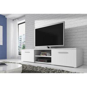 MEUBLE TV VEGAS Meuble TV contemporain décor Blanc - 150 cm