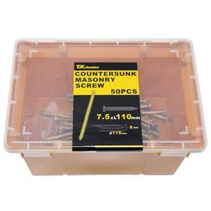 VIS - CACHE-VIS T.K.Excellent M7.5*110mm 50pcs béton multi Fix vis