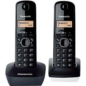 Téléphone fixe Téléphone fixe Panasonic KX-TG1612SP1 Noir Blanc -