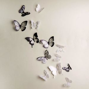 STICKERS 18 Pcs papillon 3D forme Stickers frigo Stickers m