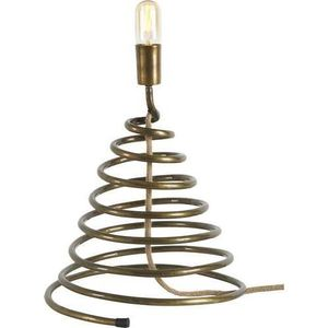 LAMPE A POSER Lampe spirale out 40x38x38 Marron