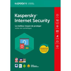 ANTIVIRUS Kaspersky Internet Security 2018 10 Postes - 1 An