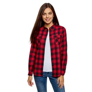 T-SHIRT Coton T-shirt des femmes avec poches poitrine 3L6Q