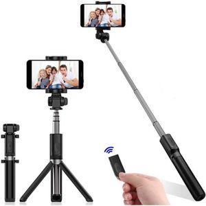 PERCHE - CANNE SELFIE 2 en 1 Perche Selfie Trépied Bluetooth avec Téléco