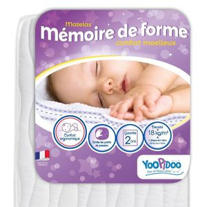 MATELAS BÉBÉ YOOPIDOO Matelas bébé Mémoire de forme - ergonomiq