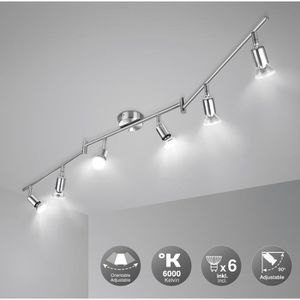 PLAFONNIER WOWATT Plafonnier LED 6 Spots Orientables - GU10 L