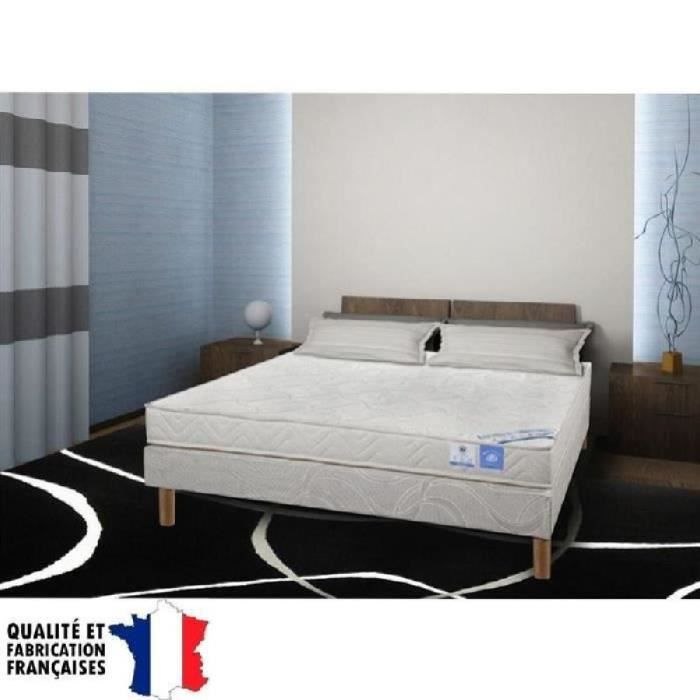 benoist belle literie ensemble matelas sommier 140x190cm 16cm mousse ferme 35kg m achat. Black Bedroom Furniture Sets. Home Design Ideas