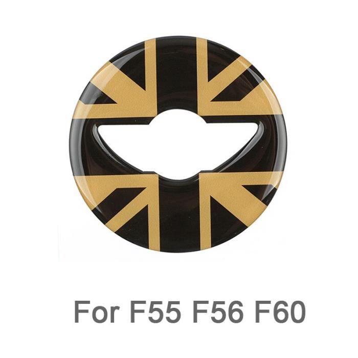 Centre de volant de voiture autocollant 3D dédié pour Mini Cooper R55 R56 R60 R61 F55 F56 F60 Clubman Countryman, [FB7D270]