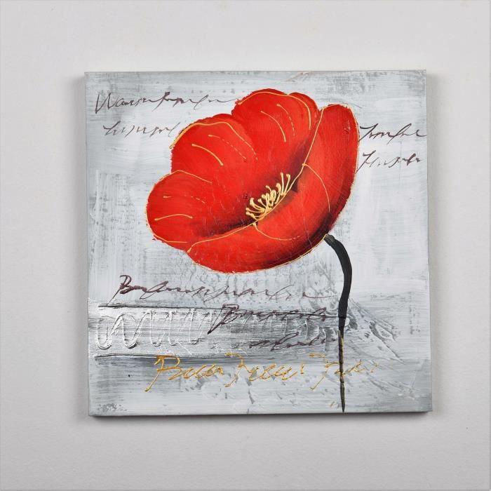 TABLEAU - TOILE Tableau déco Fleurs  59 -  Toile peinte à la main