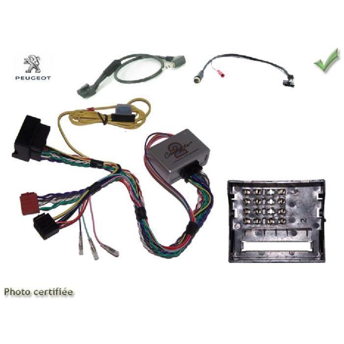 Interface Cde au Volant Peugeot ap04 Fakra avec radars recul Clarion - ADNAuto - ADN-CAV
