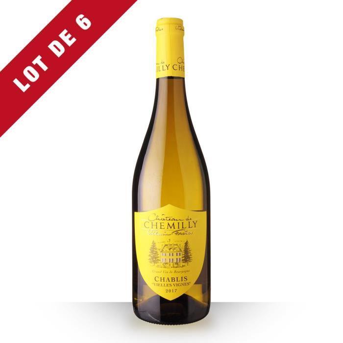 Lot de 6 - Château de Chemilly Vieilles Vignes 2017 AOC Chablis - 6x75cl - Vin Blanc