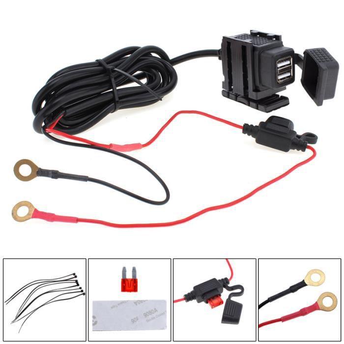 Double USB Port 12 V Étanche Moto Moto Guidon Chargeur Adaptateur Prise D'alimentation pour Téléphone GPS MP4