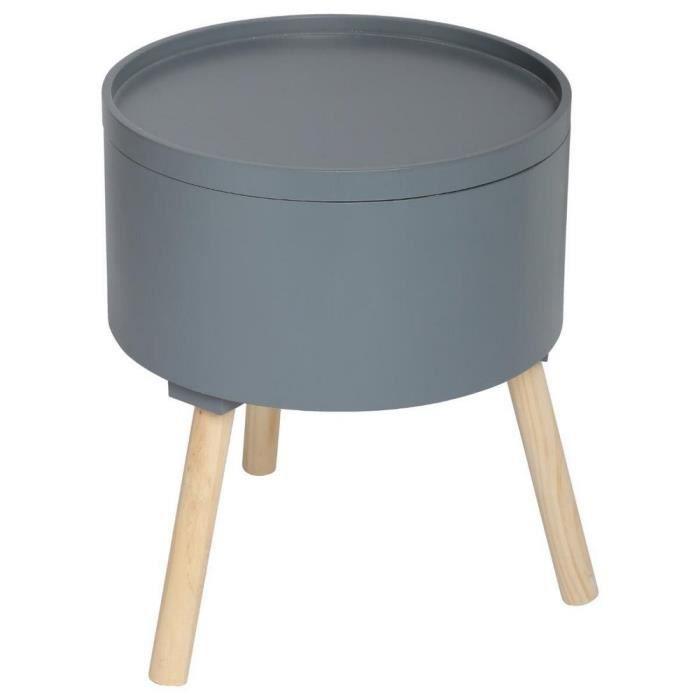 Tables basses Table basse avec coffre de rangement - Modele Oshi Gris