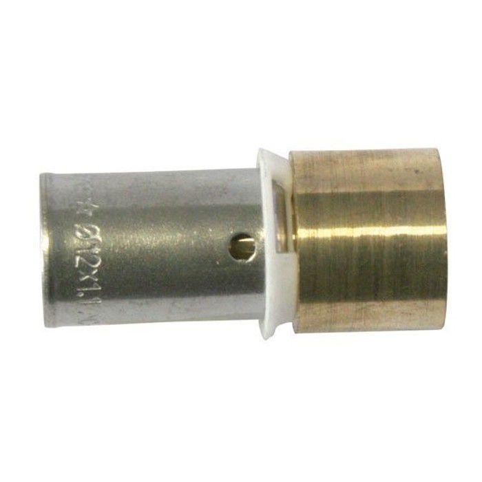 SOMATHERM Raccord à sertir PER droit Ø 12 + Embout à souder pour tube cuivre Ø 14