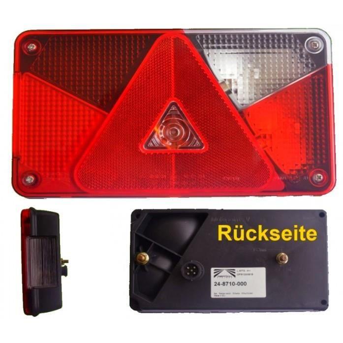 Aspöck multipoint 5 bonne lumière avec feux de marche arrière + connexion à baà¯onnette