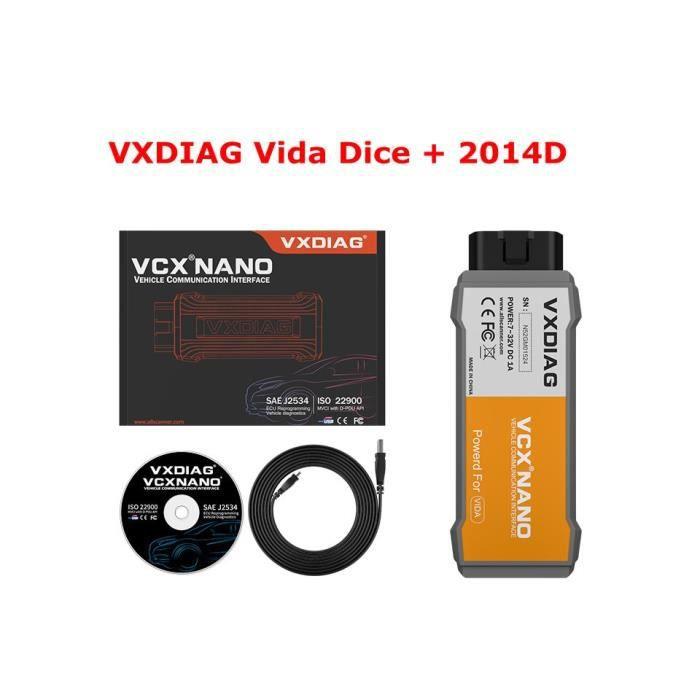 Volvo Vida Dice 2015A planche verte Outil de Diagnostic pour voiture Vida Dice modèle nouveau 2019 OBD2 - Type VXDIAG Dice 2014D