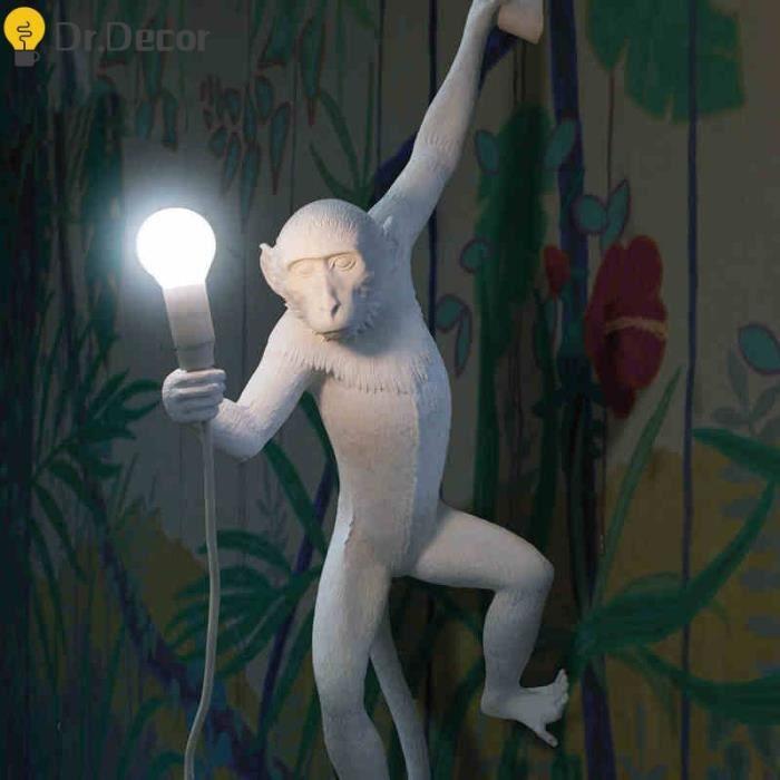 CARILLON A VENT - CARILLON EOLIEN,Résine or noir singe lampe applique éclairage LOFT décor à la maison - Type Gold table lamp #A