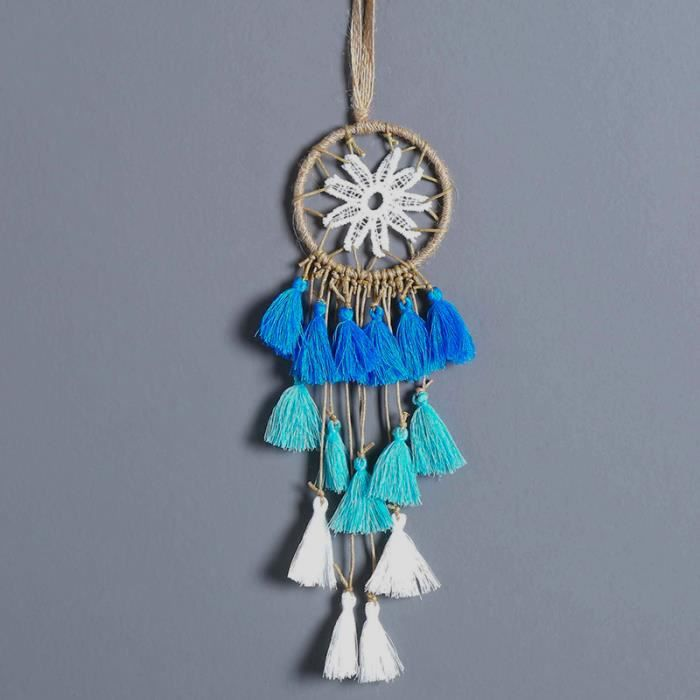 CARILLON A VENT - CARILLON EOLIEN,MIAMOR Mini capteur de rêves multicolore fait à la main - Type blue gradual change