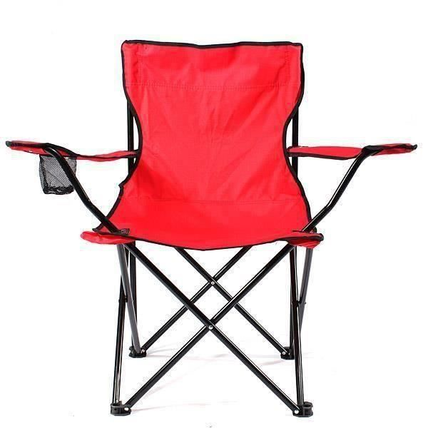 Chaise de camping pliable fauteuil de plage extérieur KING DO WAY Rouge co51509