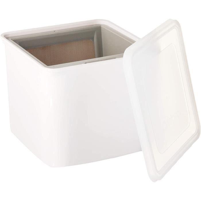 Cuisipro 837426 Yaourtière Moule à Fromage Blanc, Plastique et Acier Inoxydable, 12 x 14 x 14 cm