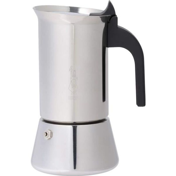 Bialetti - 1683 - Venus Induction - Cafetière Italienne en Inox - 6 Tasses