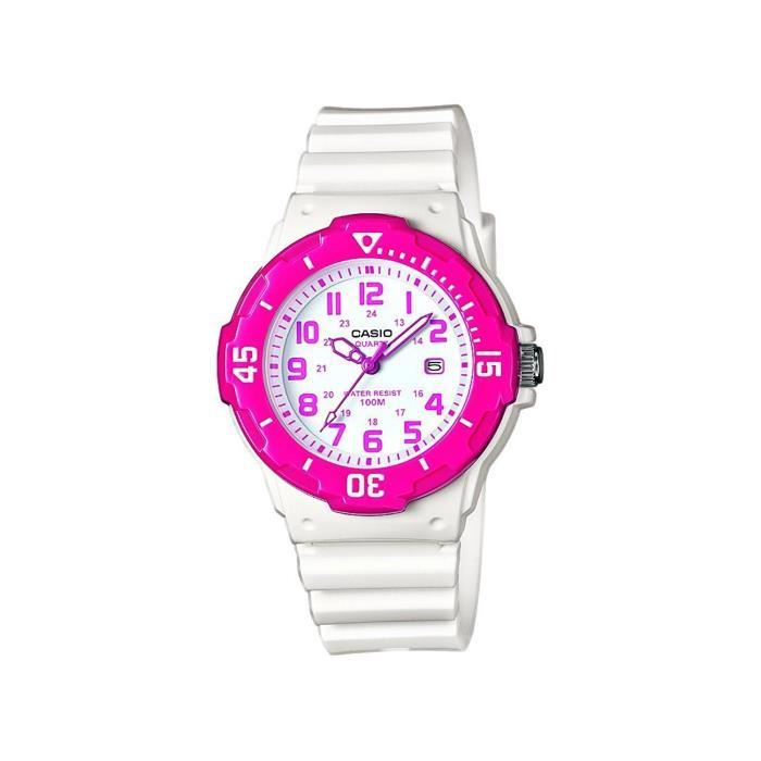 CASIO Basic Enfant Fille Blanc et Rose