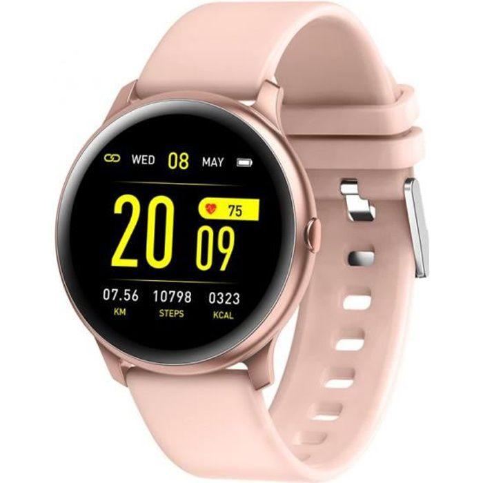Montre connectée HR-CONNECT - Bluetooth - IP67 - LCD - 3 jours - cardiofréqencemètre - rose - Cellys