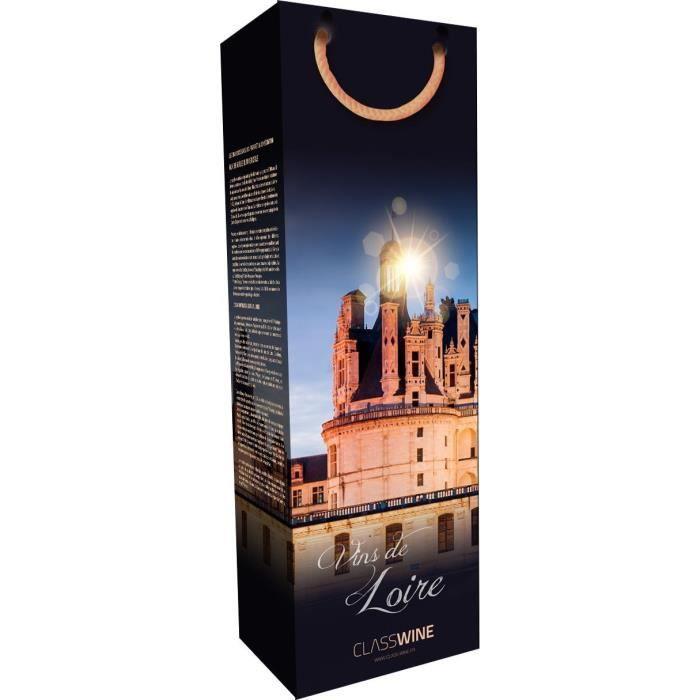 CLASSWINE Pochette pour 1 bouteille vin de Loire Chambord nuit