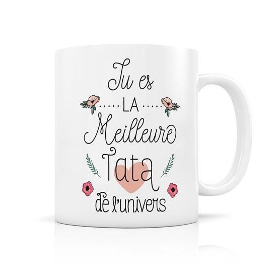 Mug avec boite cadeau -Meilleure TATA du monde- Creabisontine