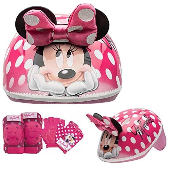 Voiture Electrique DISNEY LN84Y Coussinets et gants pour casque de skate / vélo Minnie Mouse, 7 pièces