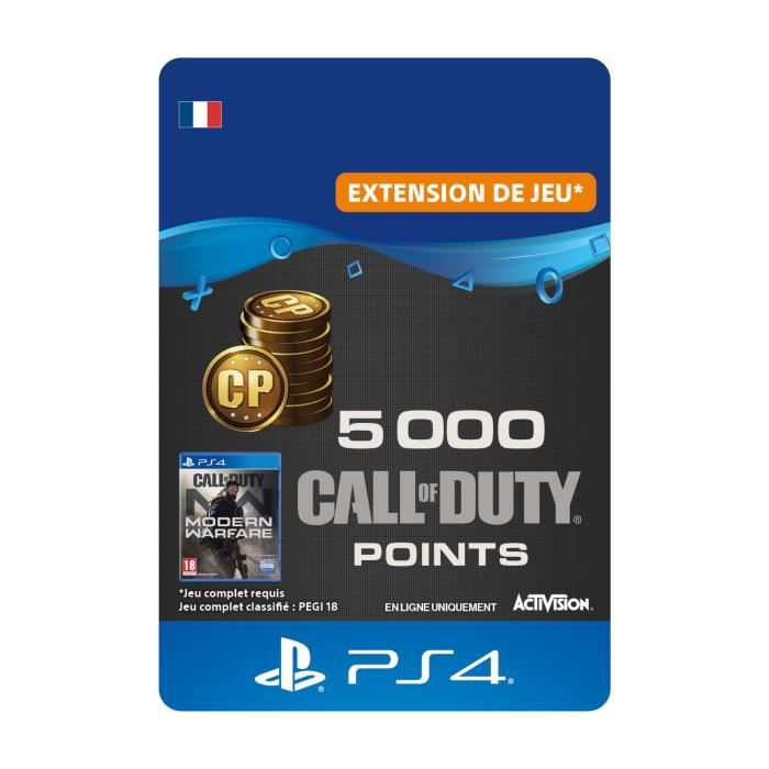 DLC 5000 Call of Duty®: Modern Warfare® Points - Code de Téléchargement PS4