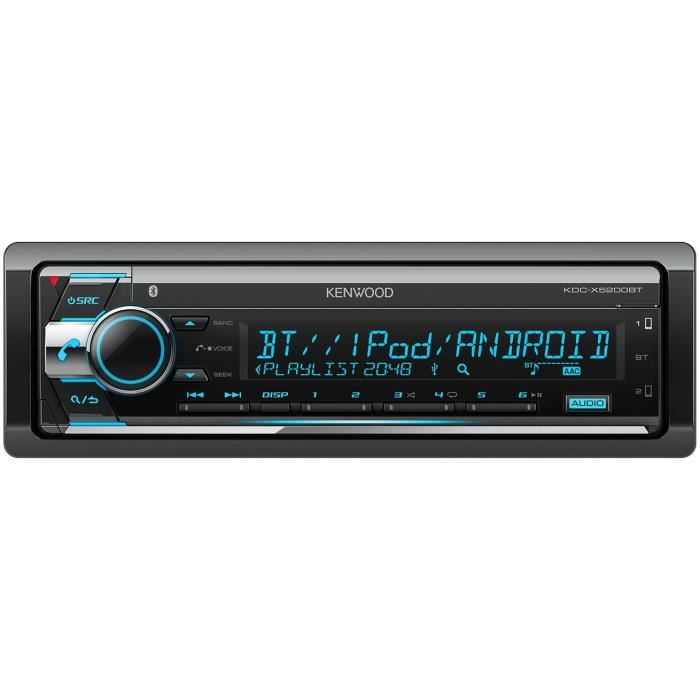 KENWOOD Autoradio CD - USB - Bluetooth - KDC-X5200BT