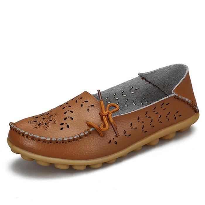 Chaussures Femmes ete Loafer Ultra Leger plate Chaussures LKG-XZ051Marron40