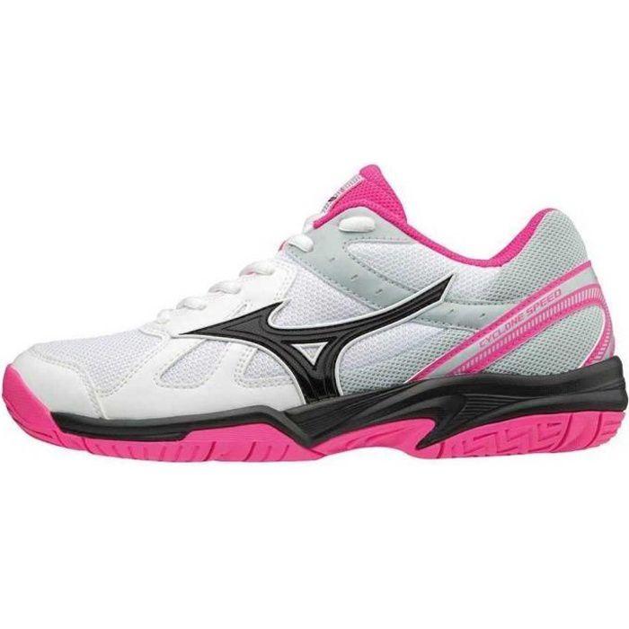 chaussures femme baskets mizuno cyclone speed. caractéristiques:grande stabilité des mouvements latéraux grâce à la superposition de