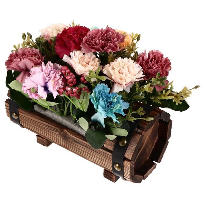 1 Ensemble Délicat Vivid Plantes Artificielles Fleurs ArticlesLes Arificules Oeillets jardiniere - bac a fleur jardinage