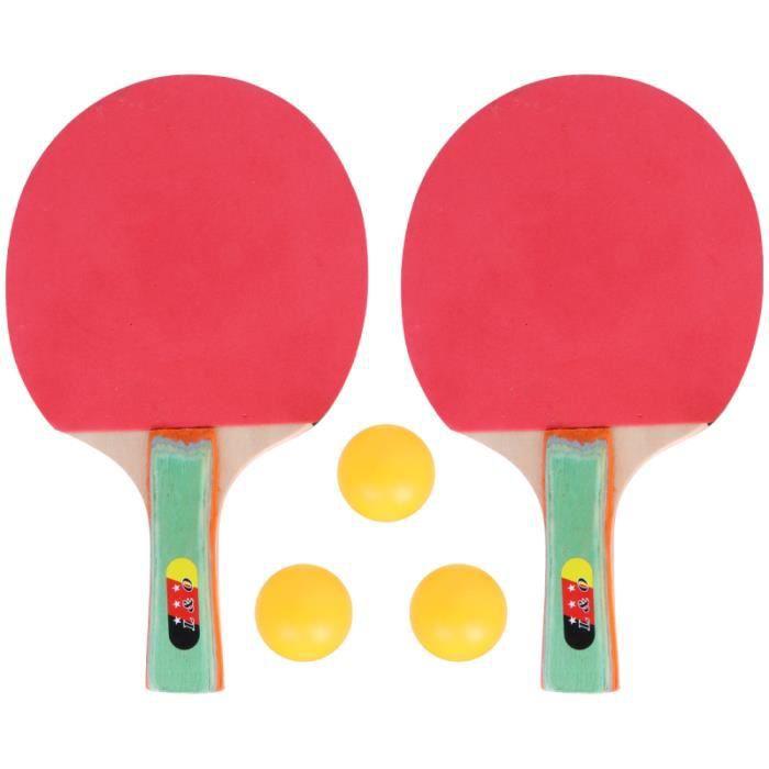 1 ensemble de raquettes de tennis de table professionnel de ping-pong pour enfants adolescents