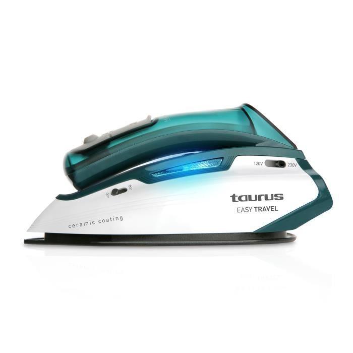 TAURUS 918914000 Fer à repasser Easy travel - 800/1100 W - Vert et Blanc