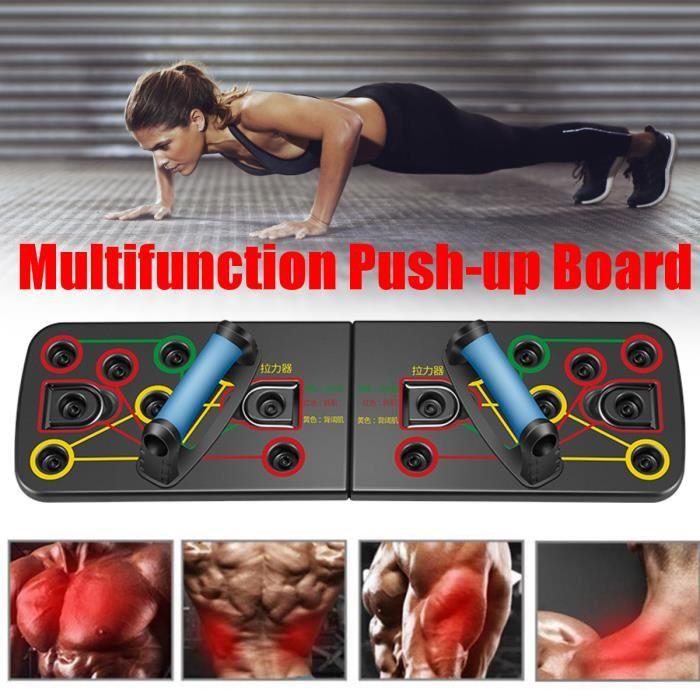 Musculation Push Up Board avec Poignée Pliable Planche et Fitness Portable Antiglisse Fonction de comptage