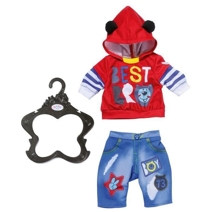 Accessoire pour poupée Zapf Creation 828199-A Baby born Tenue de garçon rouge 43 cm