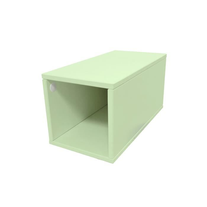 cube de rangement bois largeur 25 cm achat vente petit. Black Bedroom Furniture Sets. Home Design Ideas