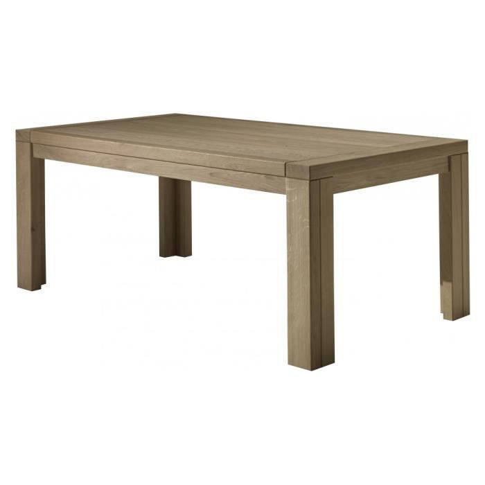 Table manger rectangulaire ch ne taupe 1 allonge l200 achat vente table - Table a manger taupe ...