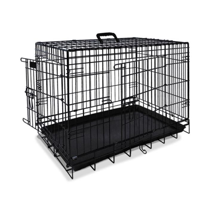 nobby cage de transport m tallique noire pour chien 109 x 72 x 79cm achat vente caisse de. Black Bedroom Furniture Sets. Home Design Ideas