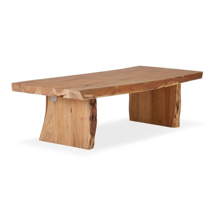 Table basse canyon 120x70 en acacia laqu naturel massivum - Table basse en acacia ...