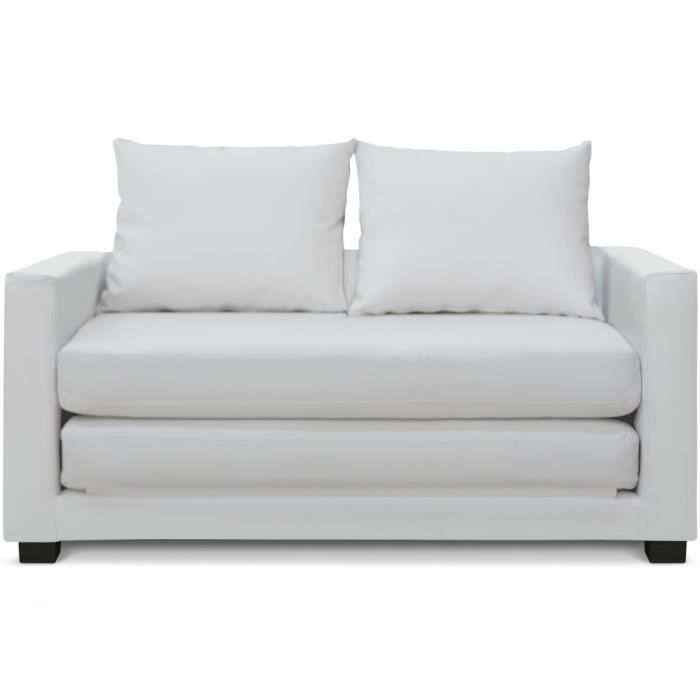 canap lit d plimousse ascott blanc achat vente canap sofa divan cdiscount. Black Bedroom Furniture Sets. Home Design Ideas