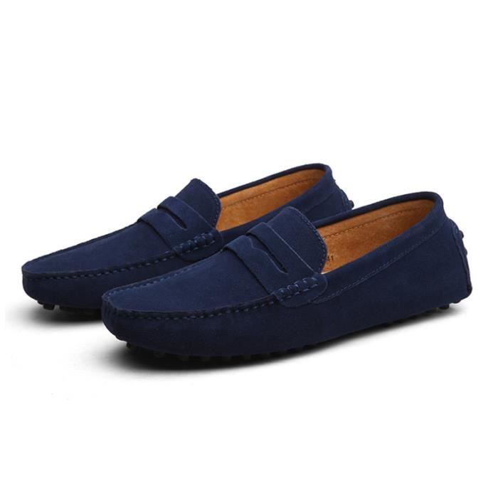 Chaussures Cuir Appartements Hommes Comfortable XZ071Bleu39 Ultra Mocassins DTG f5UXn4xnI