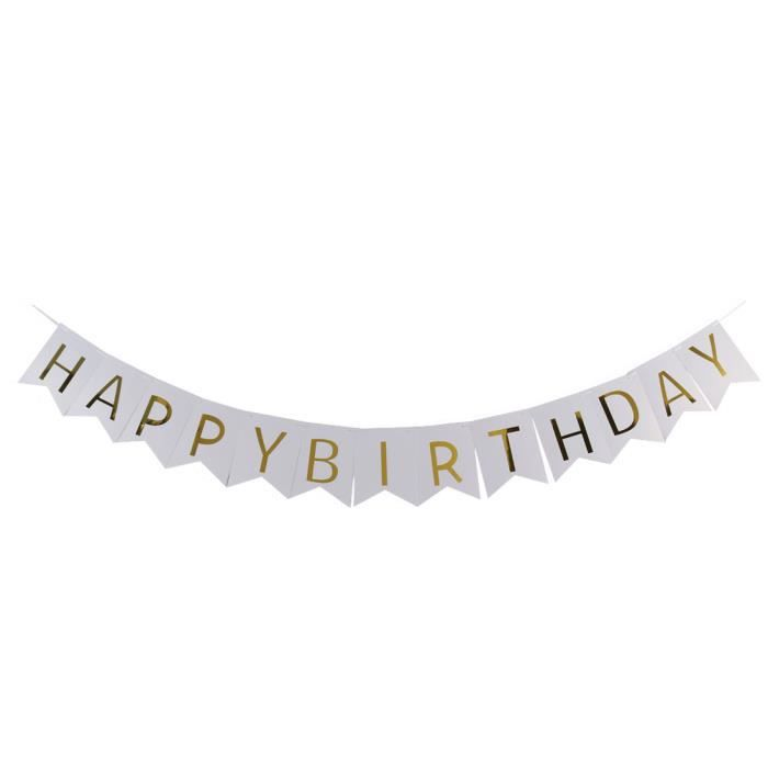 Joyeux Anniversaire Papier Lettre Imprimer Partie Bricolage Decoration Crochet Banniere Photo Prop A17040600ux1282 Achat Vente Banderole Banniere Cdiscount